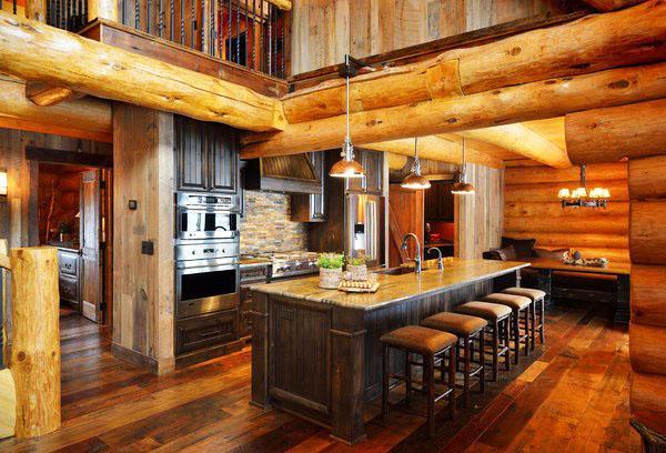 Коттедж из дерева, кухня