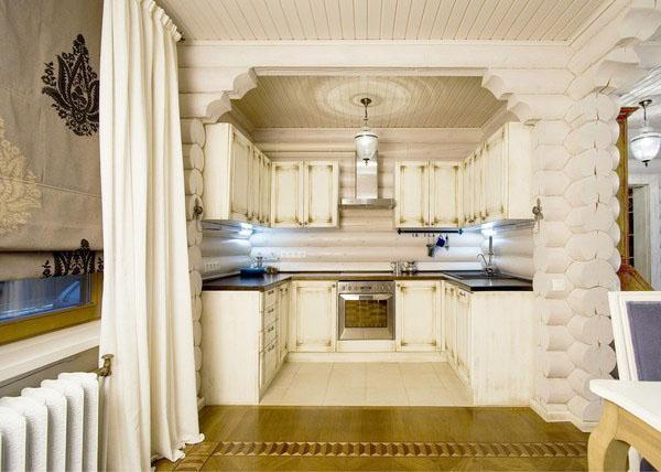 Идеальный коттедж из дерева кухня