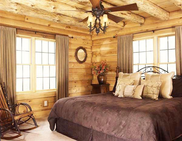 Идеальный коттедж из дерева спальня