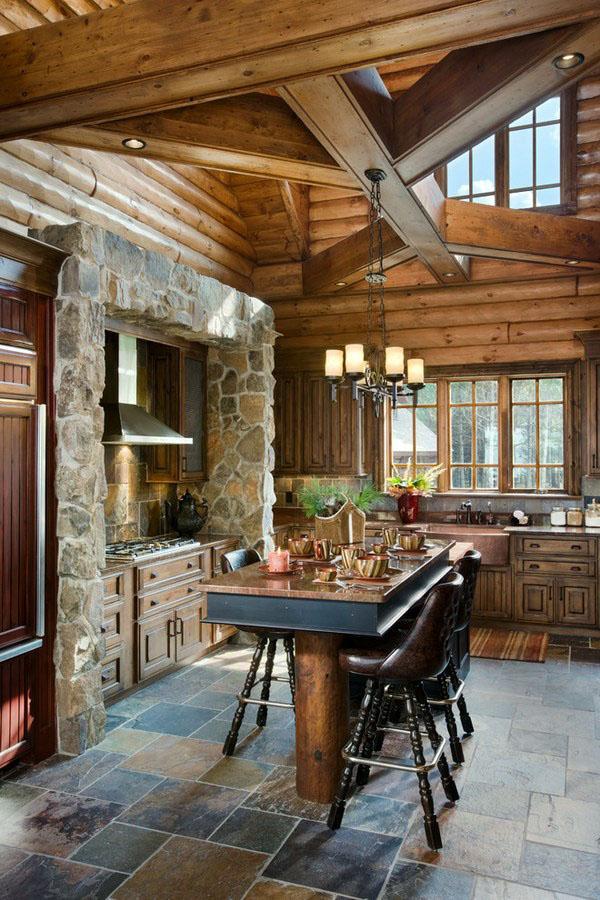 Деревянные дома для коттеджей дизайн интерьера - материалы, стили, отделки.