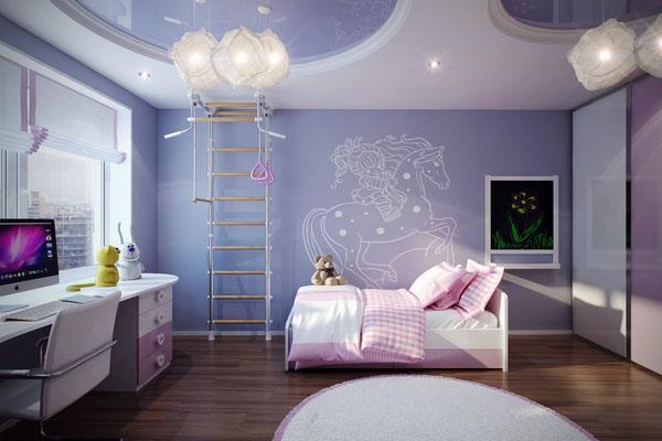 потрясающие спальни для девочек, звездное небо.