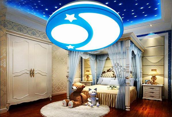 Идеи освещения потолков в детской.