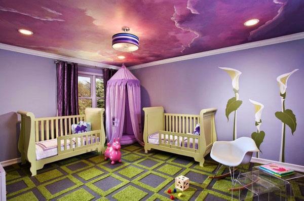 удивительные комнаты, дизайн потолков, детский декор комнаты