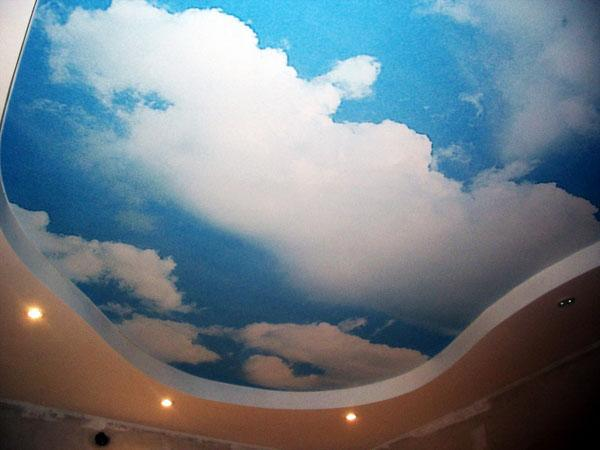 декоративные идеи потолка дети дизайн спальни небо облака
