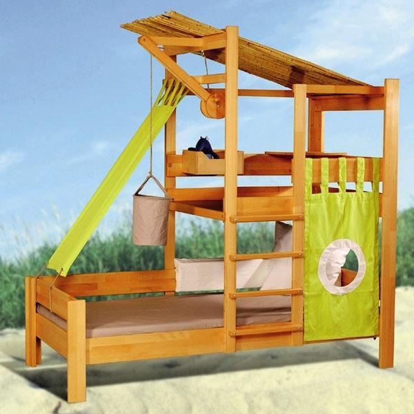 классные детские комнаты, деревянные лестницы