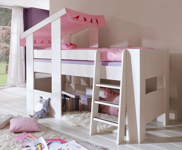 потрясающая лофт кровать, лесная тема, современная мебель для детской комнаты