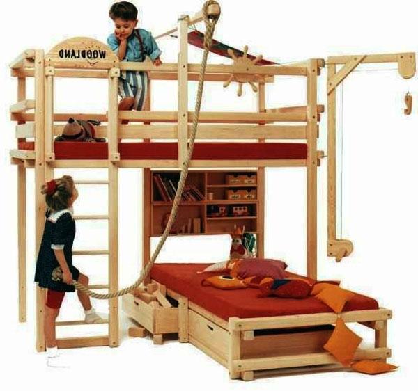 оригинальная мебель, дизайн спальня пираты, тема лофт кровать