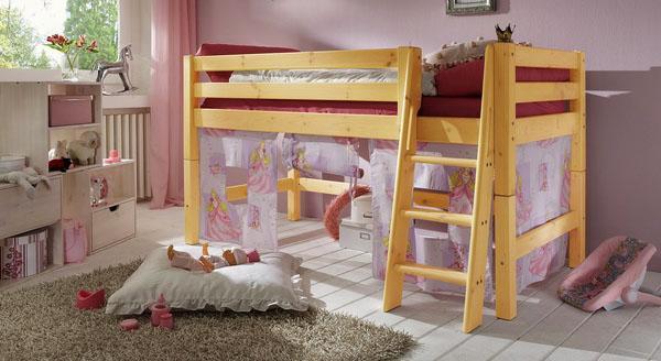 лофт кровать идеи мебели для спальни, стол, лестницы, полки