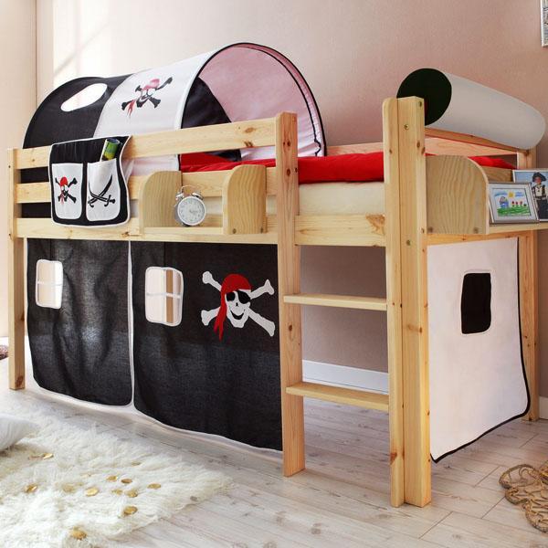 лофт кровати, пираты детская мебель для комнаты