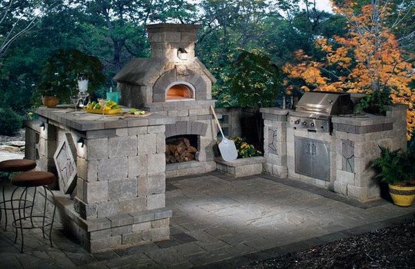 гриль для кухни на открытом воздухе