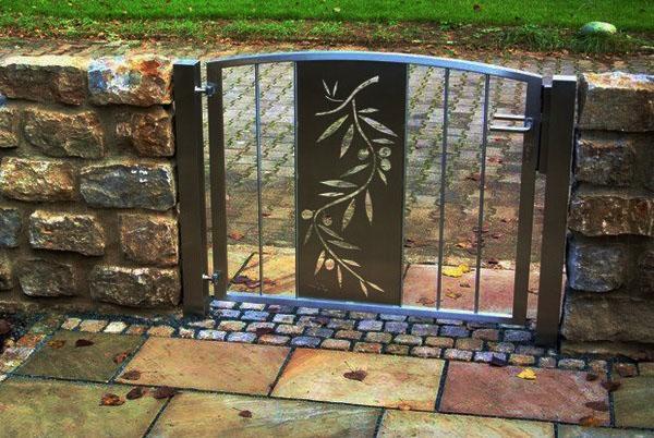 Металические садовые ворота фото