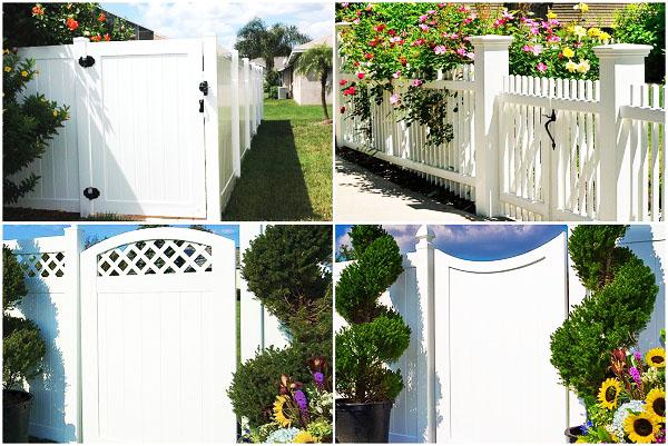 Деревянные садовые ворота фото