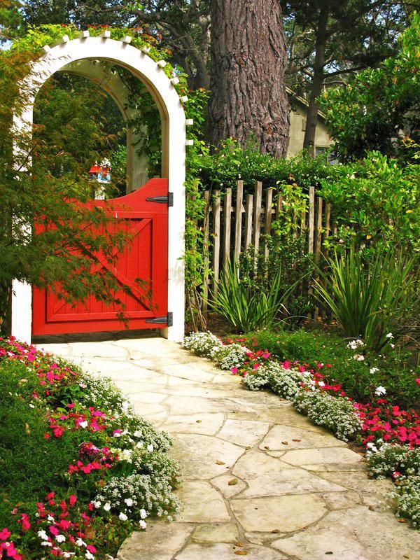Небольшие садовые ворота фото