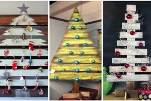 Новогодняя елка из поддонов — 20 интересных идей.