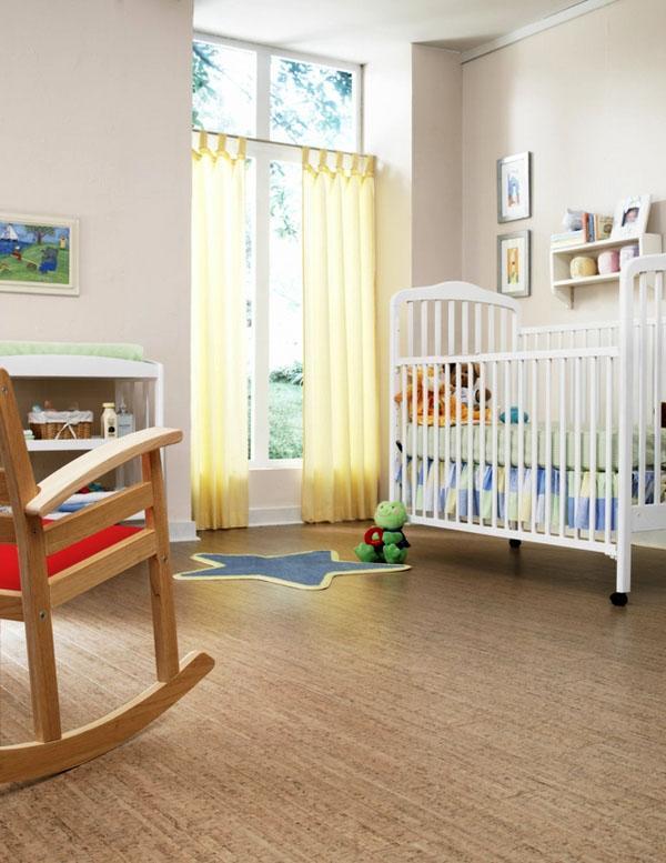 Материал также подходит для детских комнат.