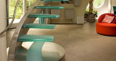 Фото современных стеклянных лестниц для дома