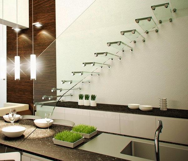 стеклянные лестничные конструкции