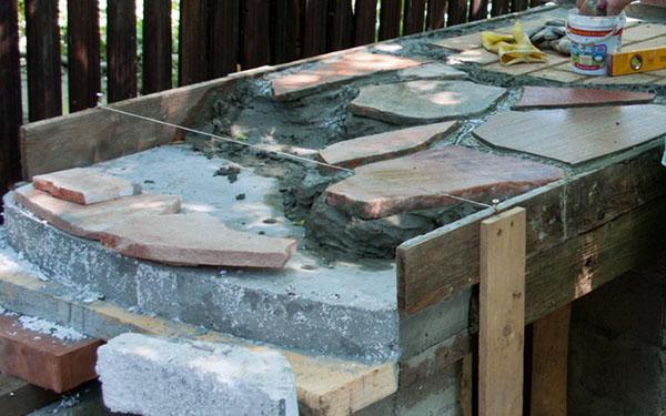 Процесс изготовления бетонной столешницы