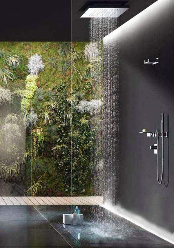 Тропический душ интерьер