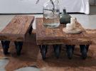 Кофейный столик из дерева.