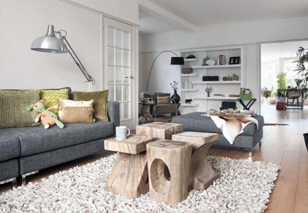 потрепанные шикарные идеи интерьера мебели