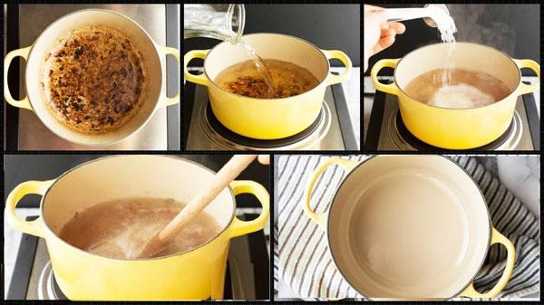 Чистим пригоревшую посуду