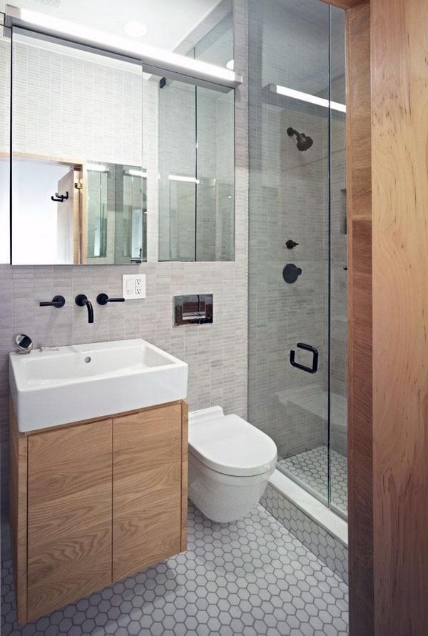 малая ванная, уникальные дизайн идеи, перегородка в душевой.