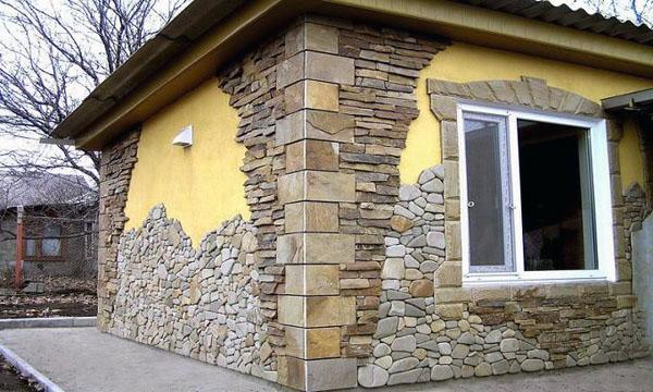наружная декоративная отделка дома камнем