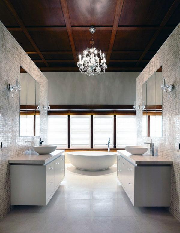 Декор потолок ванная