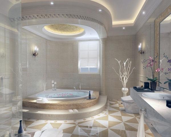Идеи освещения потолка в ванной