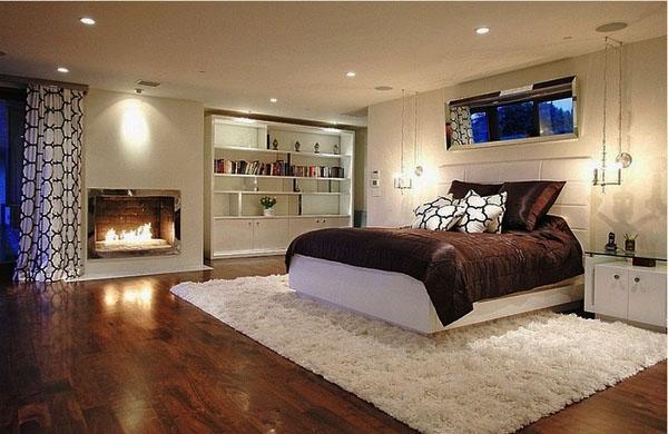 Идеи для подвалов-спальни украшают светлую белую спальню