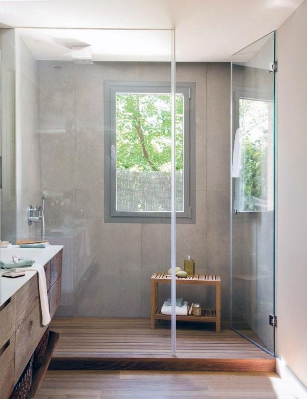 Идеи для ванной комнаты-современная ванная-дизайн-стекло-стены-современная плитка