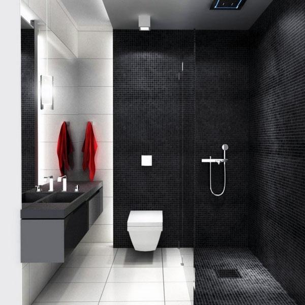 Современная ванная дизайн перегородок для душа