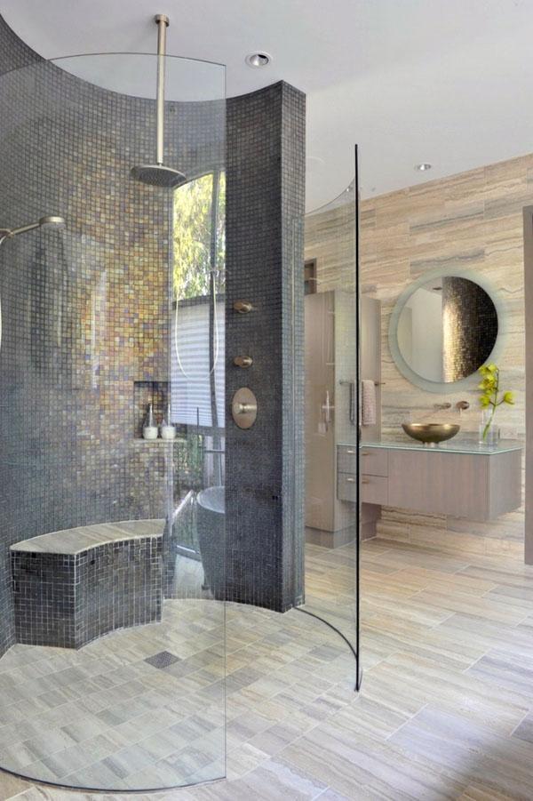 минимализм-ванная-прогулка-в-душе-идеи-стеклянная стена