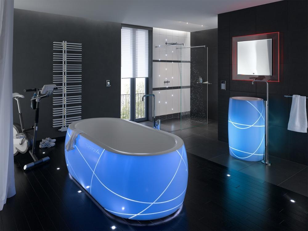 Акриловая ванная с подсветкой
