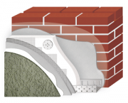 Утепление фасада POLIMIN (Полимин) Минеральный Короед зерно 2,5 мм (цвет белый) + ПСБС 50 мм