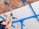Преимущества гипсокартона для строительства стены или потолка