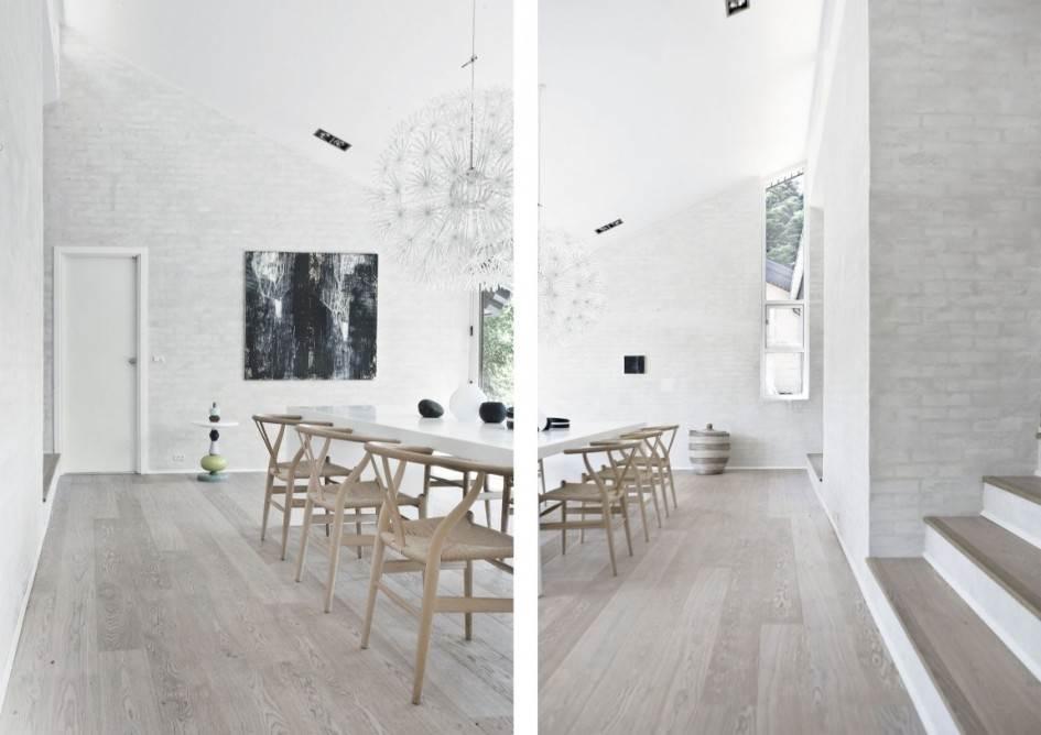 Белая кирпичная стена в современном интерьере7