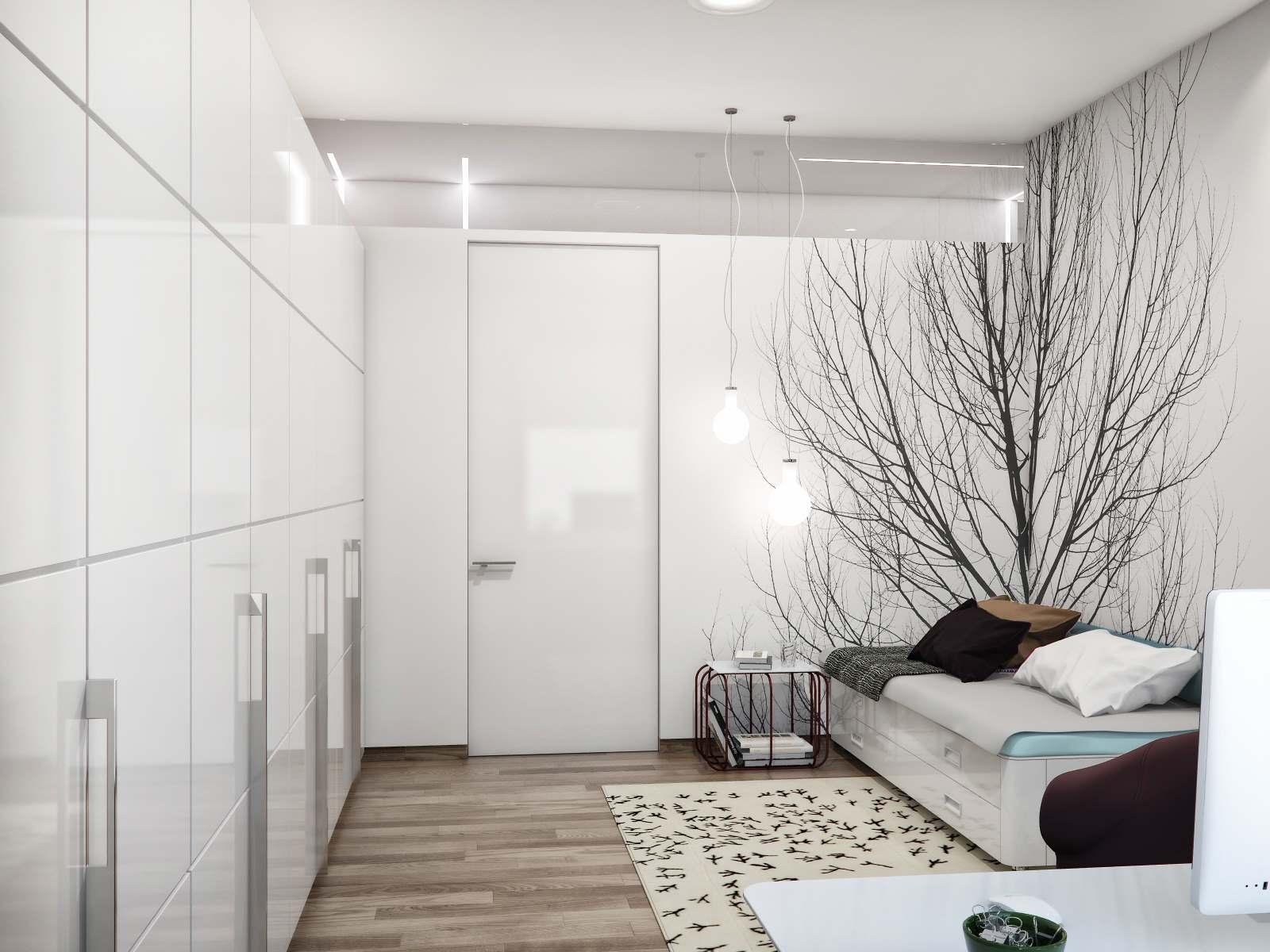 Черное-белая гамма для интерьера спальни7