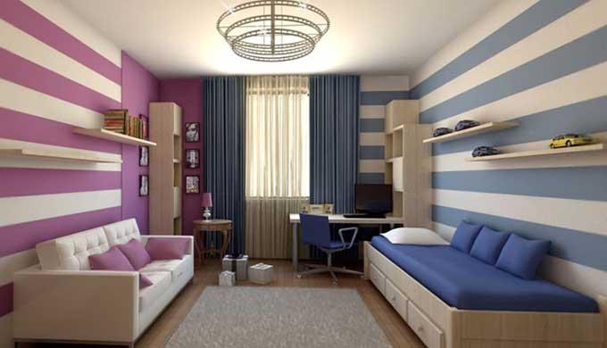 Дизайн-интерьера-детской-комнаты-для-детей-разного-пола