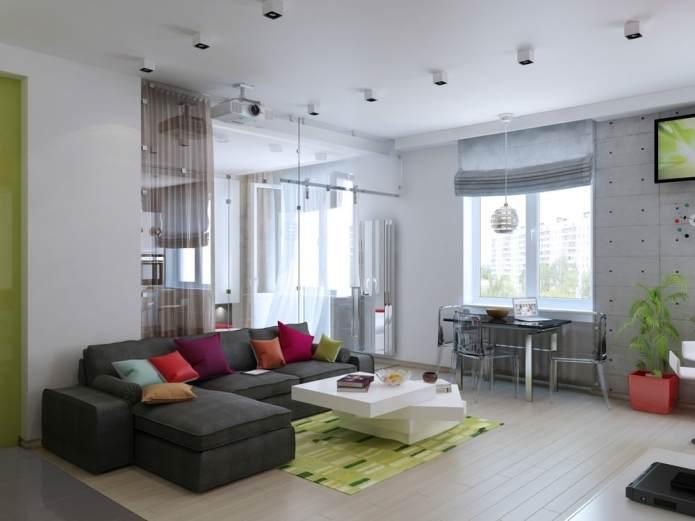 Дизайн интерьера квартиры-студии 47 кв.м