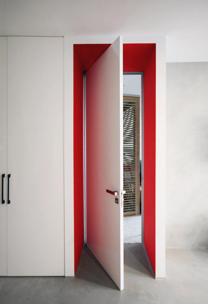 Дизайн квартиры 56 кв.м. в черно-бело-красной гамме (10)