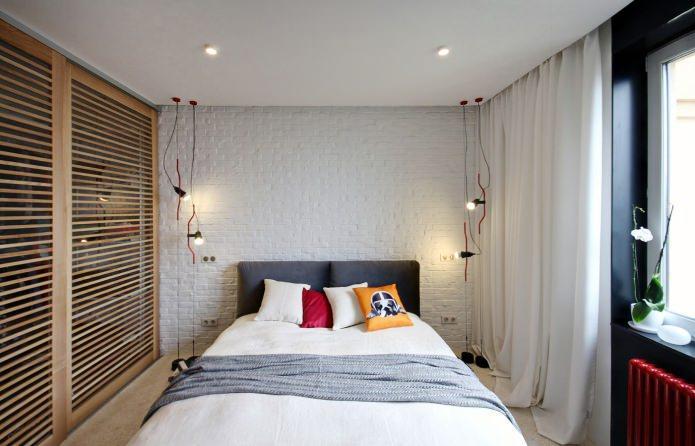 Дизайн квартиры 56 кв.м. в черно-бело-красной гамме (3)