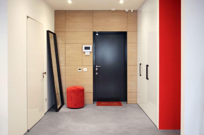 Дизайн квартиры 56 кв.м. в черно-бело-красной гамме (5)