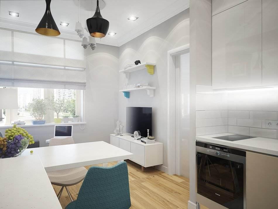Дизайн маленькой двухкомнатной квартиры 33 кв.м. (6)