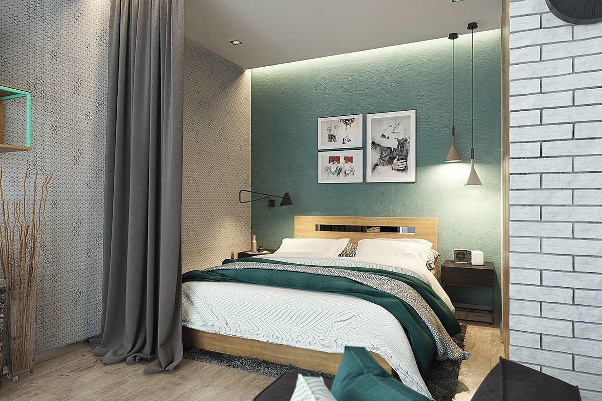 Дизайн маленькой квартиры 40 кв (10)