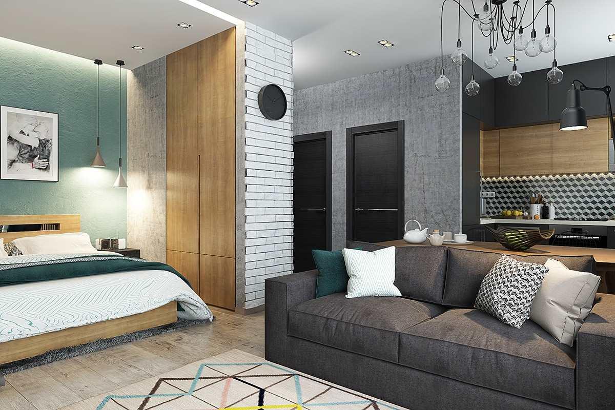 Дизайн маленькой квартиры 40 кв (11)