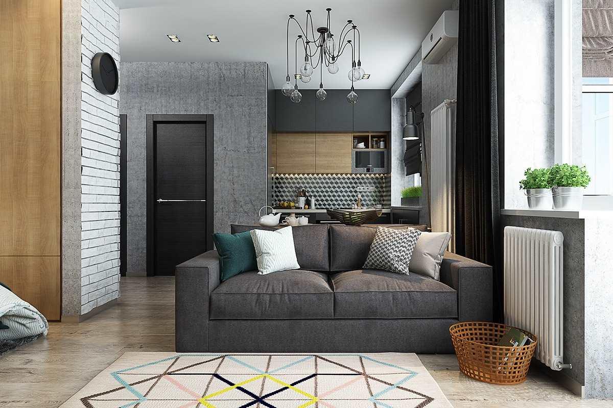 Дизайн маленькой квартиры 40 кв (5)