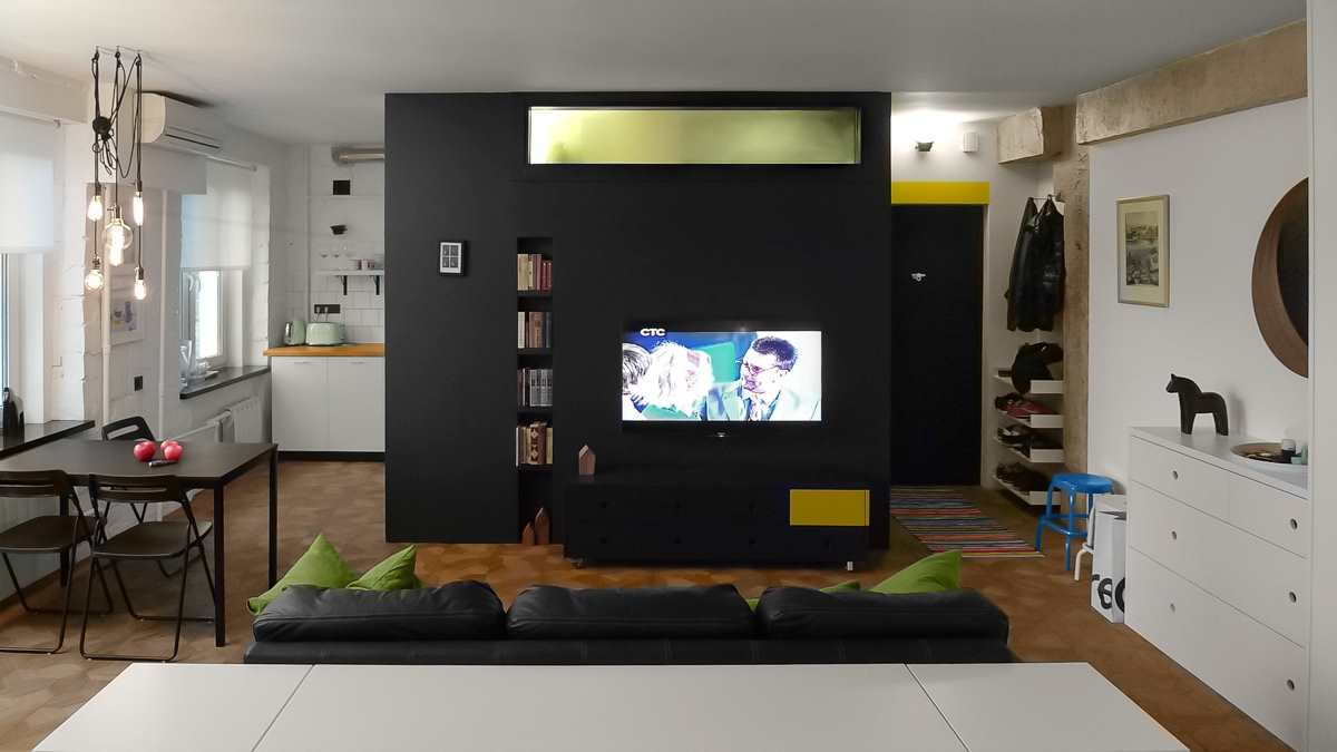 Дизайн однокомнатной квартира 43 кв.м. с фото (1)