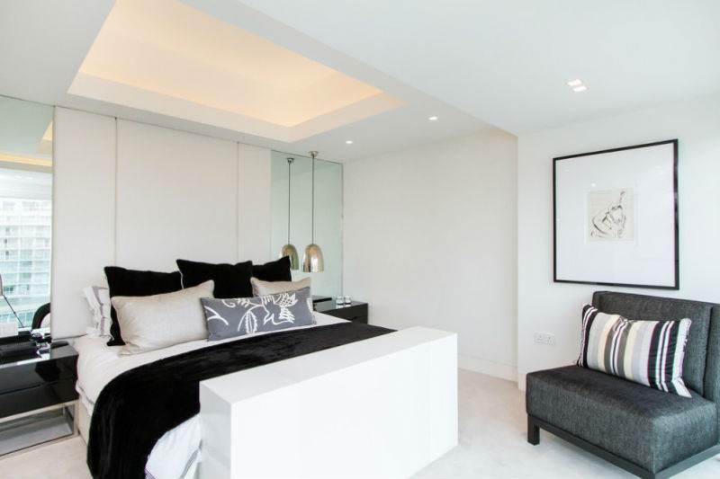 Дизайн спальни в черно-белой гамме1